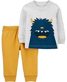 Baby Boy  2-Piece Monster Jersey Tee & Jogger Pant Set