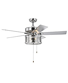 "Kostorn 52"" 3-Light Indoor Hand Pull Chain Ceiling Fan with Light Kit"