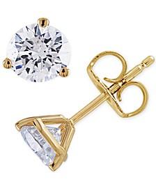 Certified Diamond (3/4 ct. t.w.) Stud Earrings in 14K White or Yellow Gold