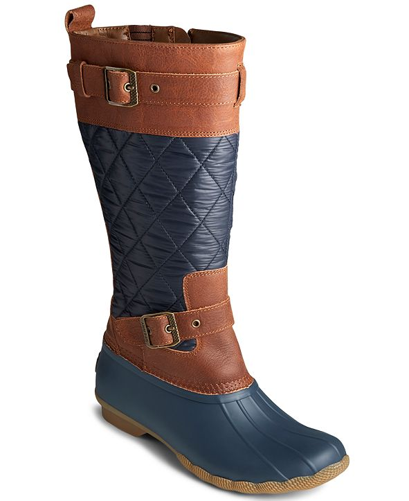 Sperry Women's Saltwater Buckled Quilted Boots