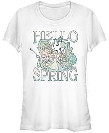 Women's Alice in Wonderland Spring Garden Alice Short Sleeve T-shirt