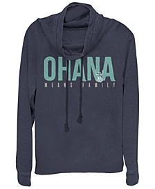Women's Disney Lilo Stitch Ohana Bold Fleece Cowl Neck Sweatshirt
