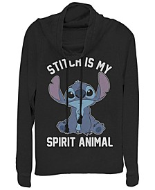 Women's Disney Stitch Spiritual Animal Fleece Cowl Neck Sweatshirt