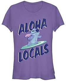 Women's Disney Lilo Stitch Aloha Locals Stitch Short Sleeve T-shirt