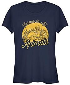 Women's Bambi Friend To Animals Short Sleeve T-shirt