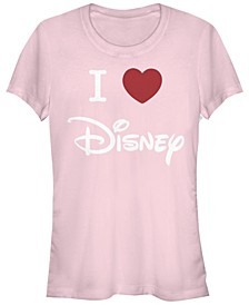 Women's Disney Logo I Heart Disney Short Sleeve T-shirt