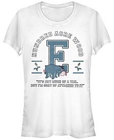 Women's Winnie the Pooh Eeyore Collegiate Short Sleeve T-shirt