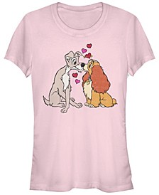 Women's Lady and the Tramp Puppy Love Short Sleeve T-shirt