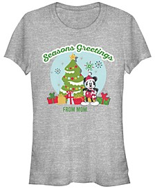 Women's Disney Mickey Classic Greetings From Mom Short Sleeve T-shirt