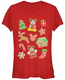 Women's Disney Mickey Classic Gingerbread Mouses Short Sleeve T-shirt