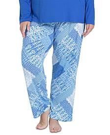 Plus Size Cool Girl Printed Pajama Pants