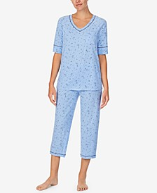 Cuddl Smart Printed Capri Pajamas Set