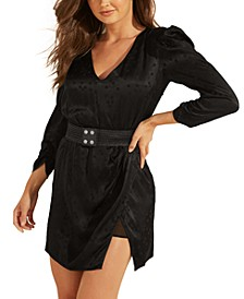 Maurizia Belted Puff-Sleeve Dress