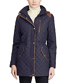 Quilted Hooded Anorak Coat