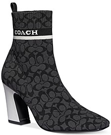 Women's Tasha Logo Sock Booties