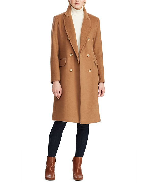 Lauren Ralph Lauren Double-Breasted Walker Coat