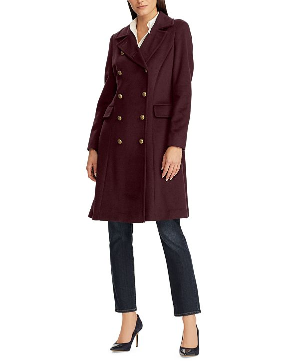 Lauren Ralph Lauren Double-Breasted Wool-Blend Walker Coat