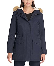 Trendy Plus Size Faux-Fur-Trim Parka