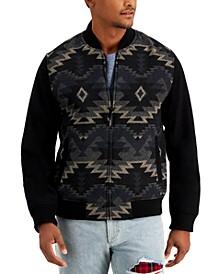 Men's Geometric Zip-Front Jacket, Created for Macy's