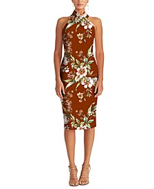 Harland Printed Halter Dress