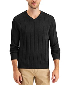 Men's Drop-Needle V-Neck Cashmere Sweater, Created for Macy's