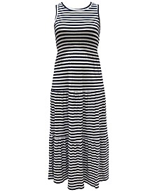 Striped Sleeveless Maxi Dress, Created for Macy's