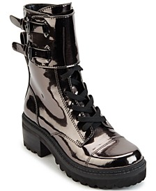 Women's Bart Lace-Up Buckled Lug Sole Booties