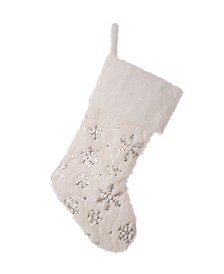 Plush with Snowflake Christmas Stocking
