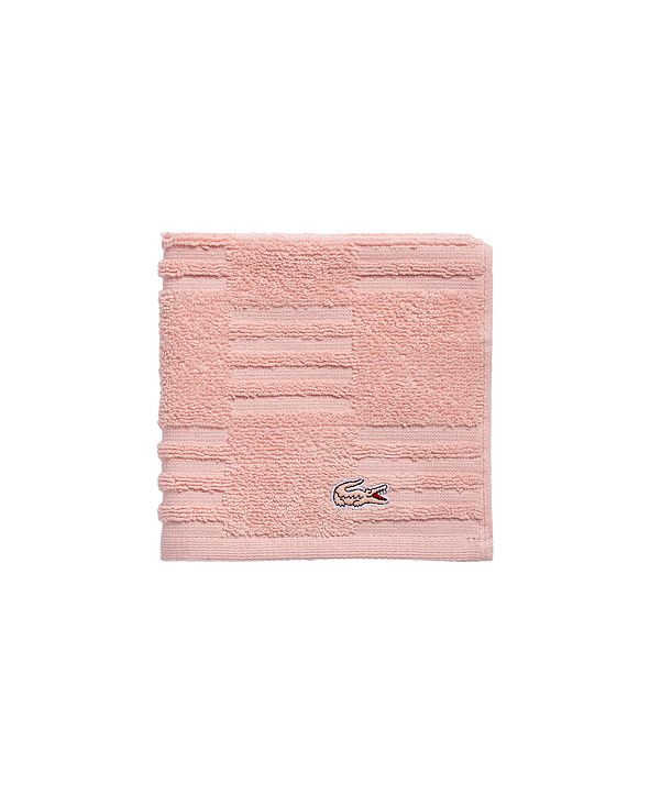 "Lacoste Sculpted Squares 13"" x 13"" Washcloth"