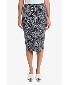 Women's Iced Leopard Midi Tube Skirt