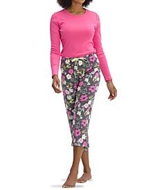 Women's Destiny Floral Capri Pajama Pants