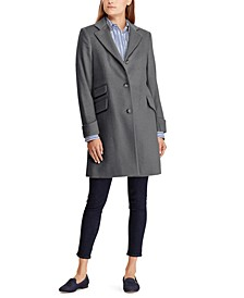Petite 3-Button Walker Coat, Created For Macy's