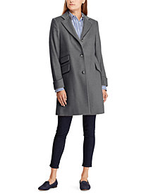 Lauren Ralph Lauren Petite 3-Button Walker Coat, Created For Macy's