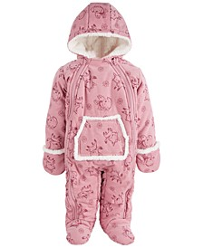 Baby Girls Printed Corduroy Bunting, Created for Macy's