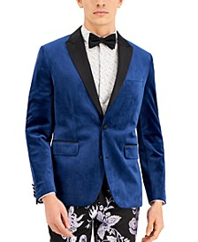 INC Men's Logan Slim-Fit Velvet Blazer, Created for Macy's