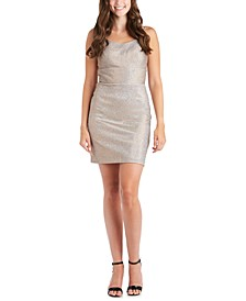 Juniors' Shimmer Bodycon Dress