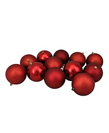 Red Shatterproof Finish Christmas Ball Ornaments