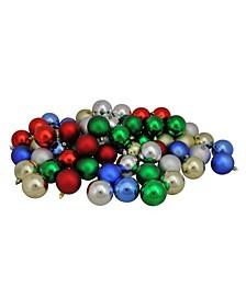 Shatterproof 2-Finish Christmas Ball Ornaments