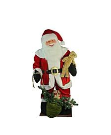 LED Lighted Musical Santa Claus with Gi Bag Christmas inflatable Figurine