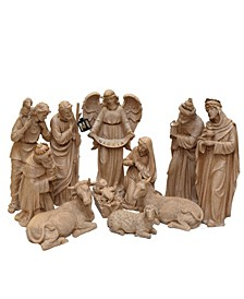 Speckled Traditional Religious Christmas Nativity Set