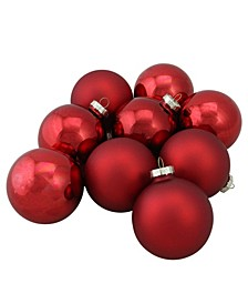 9 Count 2-Finish Christmas Ball Ornaments