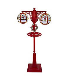 Lighted Musical Double Christmas Street Lamp