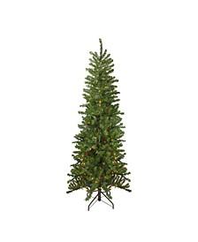 Pre-Lit Pencil Canadian Pine Artificial Christmas Tree