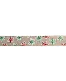 Snowflakes Christmas Wired Craft Ribbon Yards