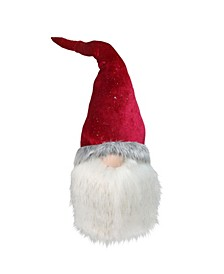 Gnome with Bendable Glitter Velvet Textured Hat Christmas Decoration