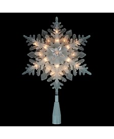Pre-Lit Snowflake Christmas Tree Topper
