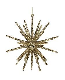 Glitter Starburst Hanging Christmas Ornament