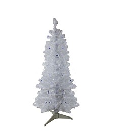 Pre-Lit Medium Pine Artificial Christmas Tree-Lights