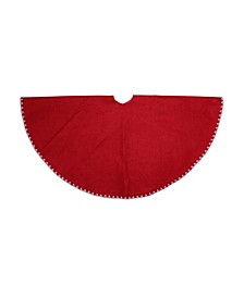 Shell Stitching Mini Christmas Tree Skirt