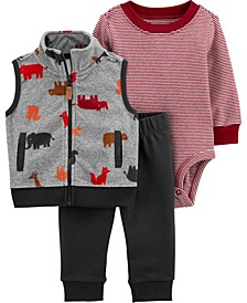 Big Boy 3-Piece Dinosaur Little Vest Set
